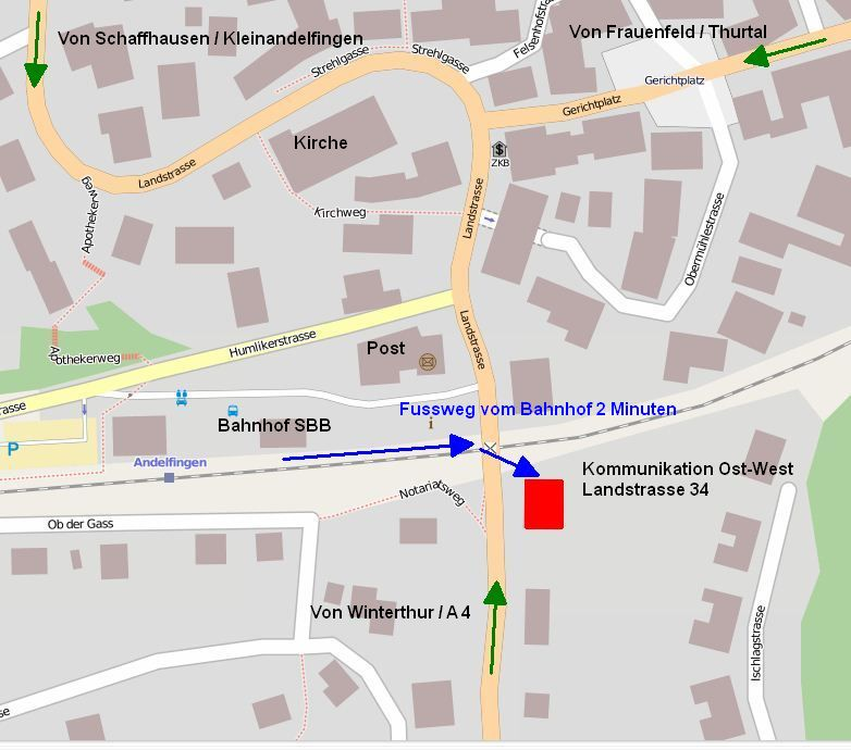 Situationsplan Andelfingen